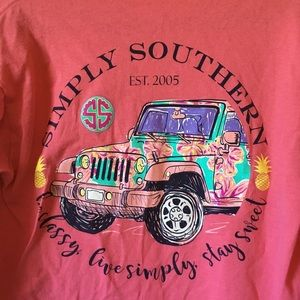 Simply southern long sleeve Jeep tee